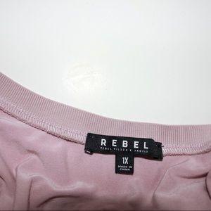 Rebel Tops - Rebel Wilson x Angel Collection Mesh Overlay Top